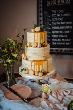 Small wedding cake at The Lamb Inn at Sandford