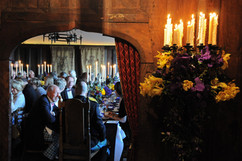 Guests dining in banqueting hall
