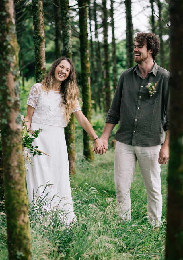 Woodland elopement at Pengelly Retreat