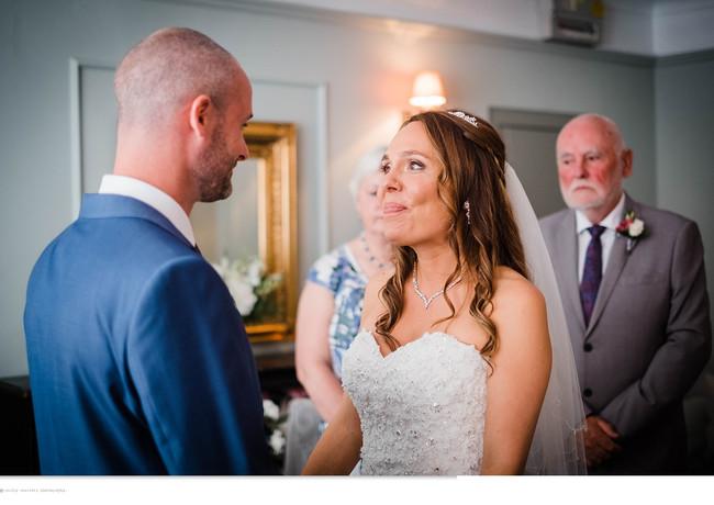 Intimate wedding ceremony at The Rosevine