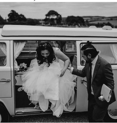 Chauffeur service in Toby the VW Camper