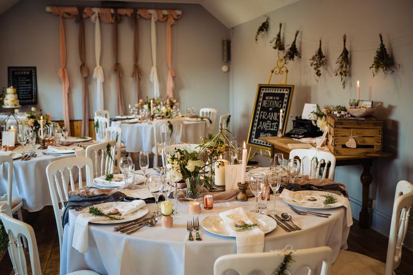 small wedding dining at The Lamb Inn at Sandford