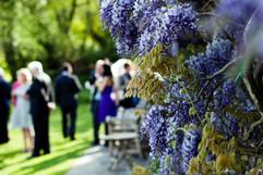 Intimate wedding ceremony in the garden