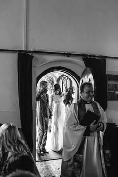 Blessing at Morvah church - Chypraze Wedding Barn