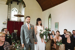 Blessing on intimate wedding day