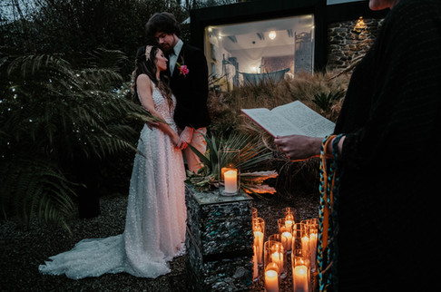 Dusk ceremomy at Fallen Angel