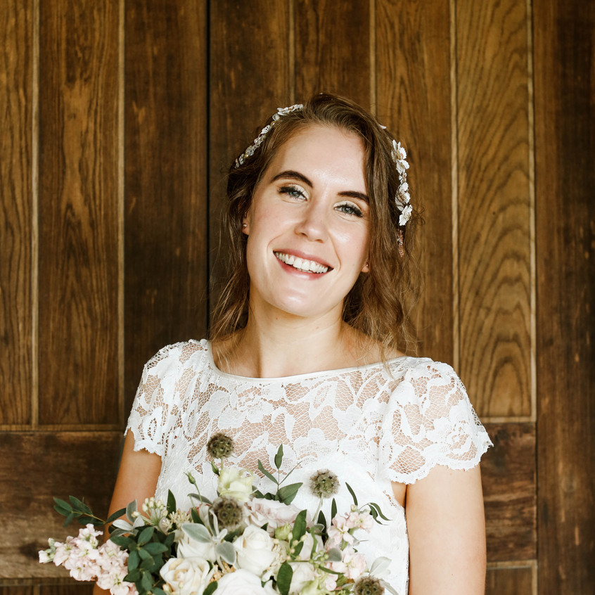 Amy chose Jennifer of Cornwall hair and make up for styling on her special day.