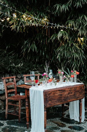Styled dining table at Fallen Angel