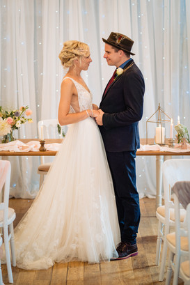 Elopement wedding ceremony at The Lamb Inn