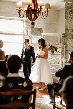 Intimate wedding ceremony at Tregoose