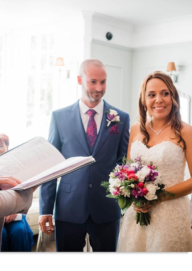 Emotional wedding moment at The Rosevine