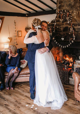 Winter weddings by the log fire at millbrook