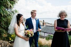 Wedding blessing at Fallen Angel