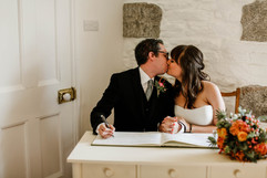 Wedding ceremony at Tregoose