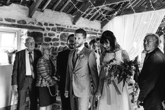 INtimate WeddingCeremony at Chypraze Wedding Barn