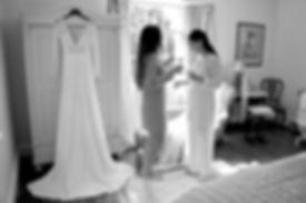 Wedding prep at Treseren