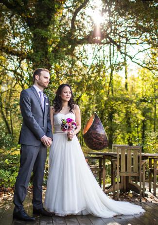 Outdoor elopement ceremony at Millbrook