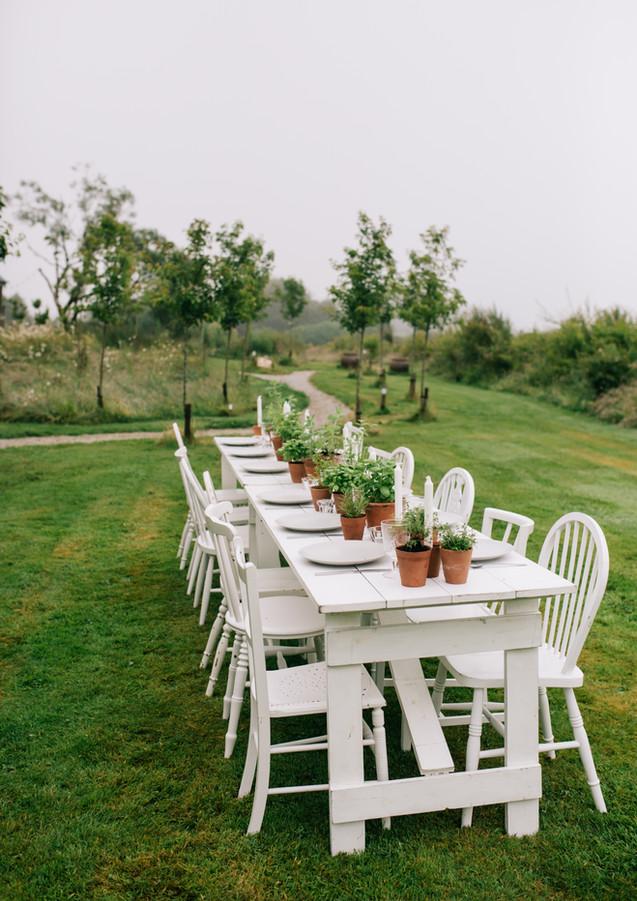 Intimate wedding dining at Pengelly Retreat
