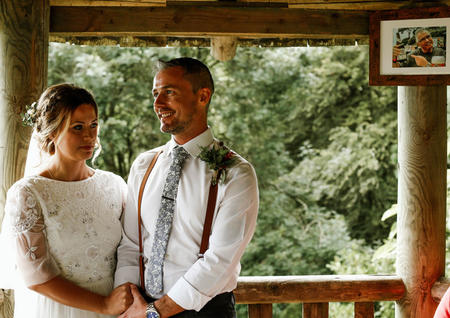 Fallen Angel and Tremenheere wedding day