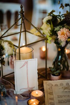 Intimate wedding meal at The Lamb Inn