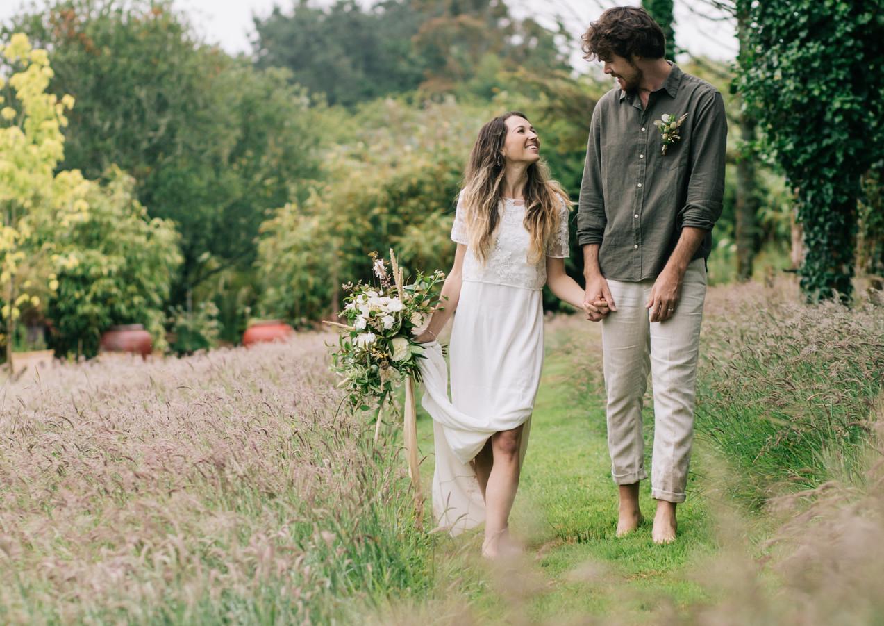 Walk in teh wild meadows at Pengelly Retreat