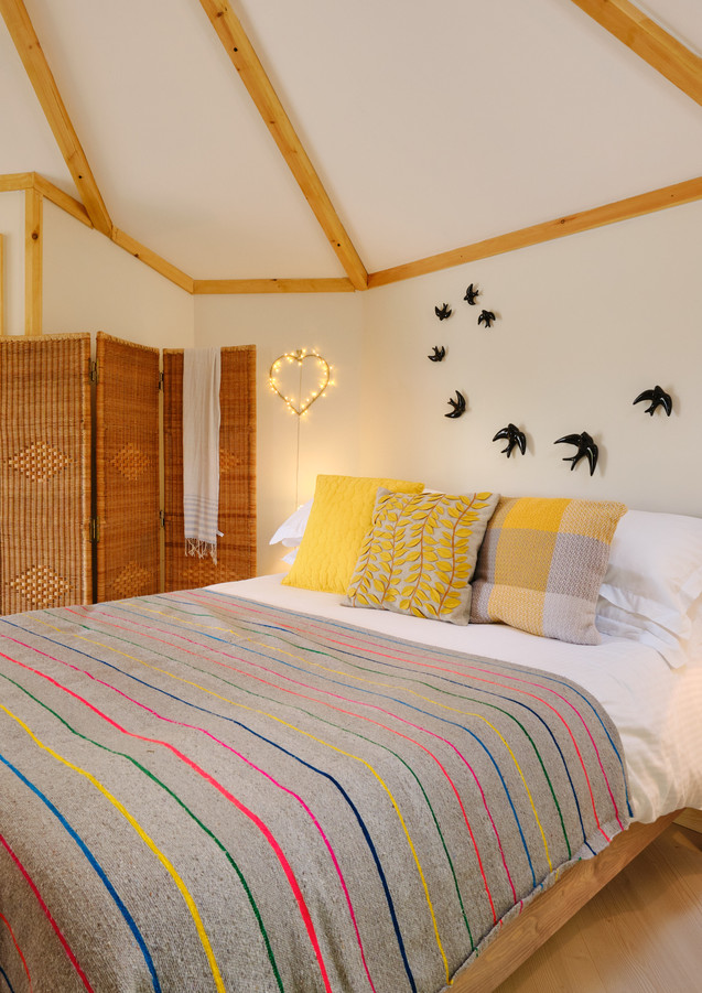 Sumptuous bed at Pengelly Retreat