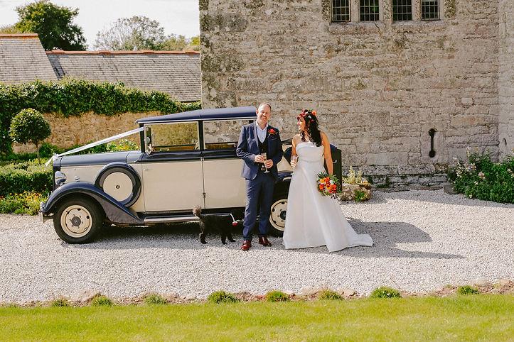Intimate castle wedding