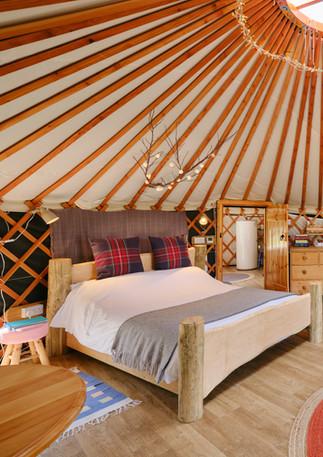 Inside eth Sail House, Pengelly Retreat