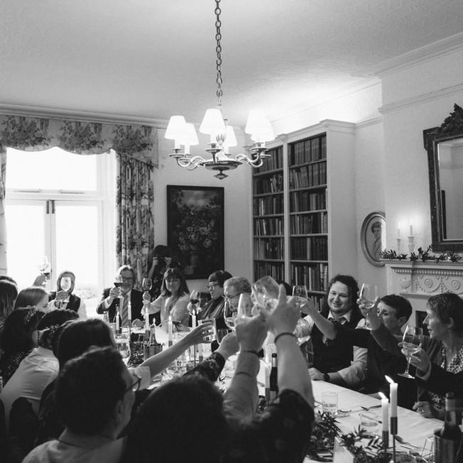 Intimate winter wedding at Porthpean House