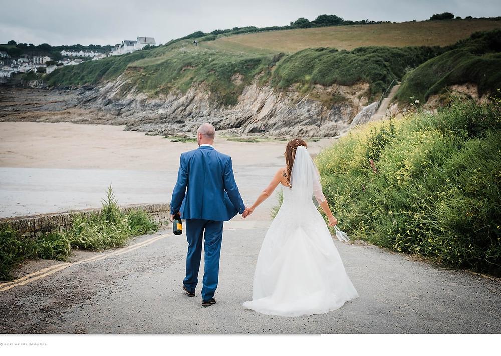 Wedding beach shoot