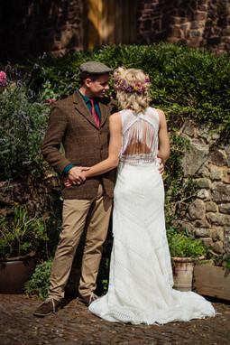 Relaxed elopement wedding venue Devon