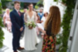 Small legal wedding ceremony