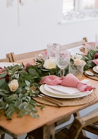vintage style wedding table _dusky pink