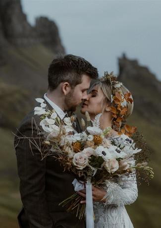 Adventure elopement mountain wedding in Skye