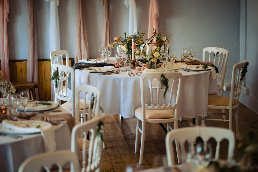Small wedding reception in The Function Room - The Lamb Inn