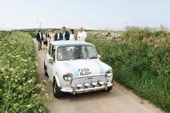 Quirky wedding car