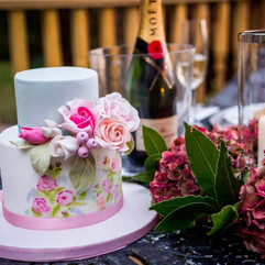 Wedding cake at The Folly