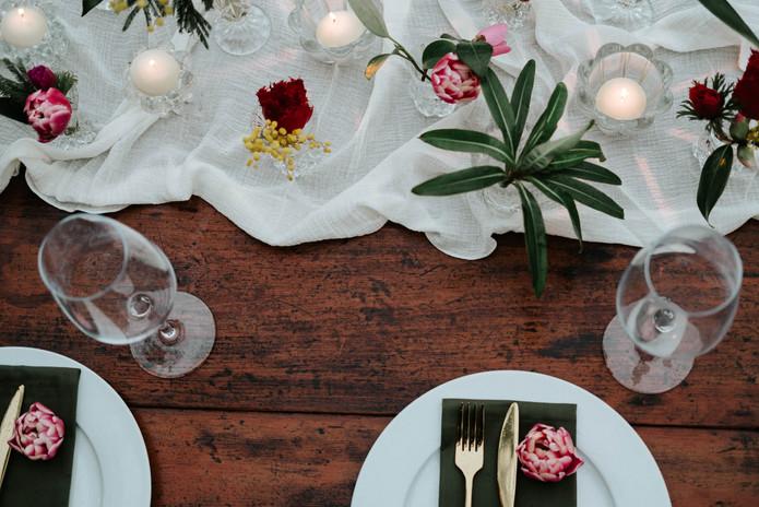 Styled romantic dining