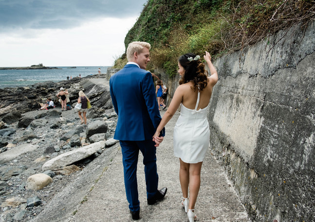 Wedding photography in Mousehole