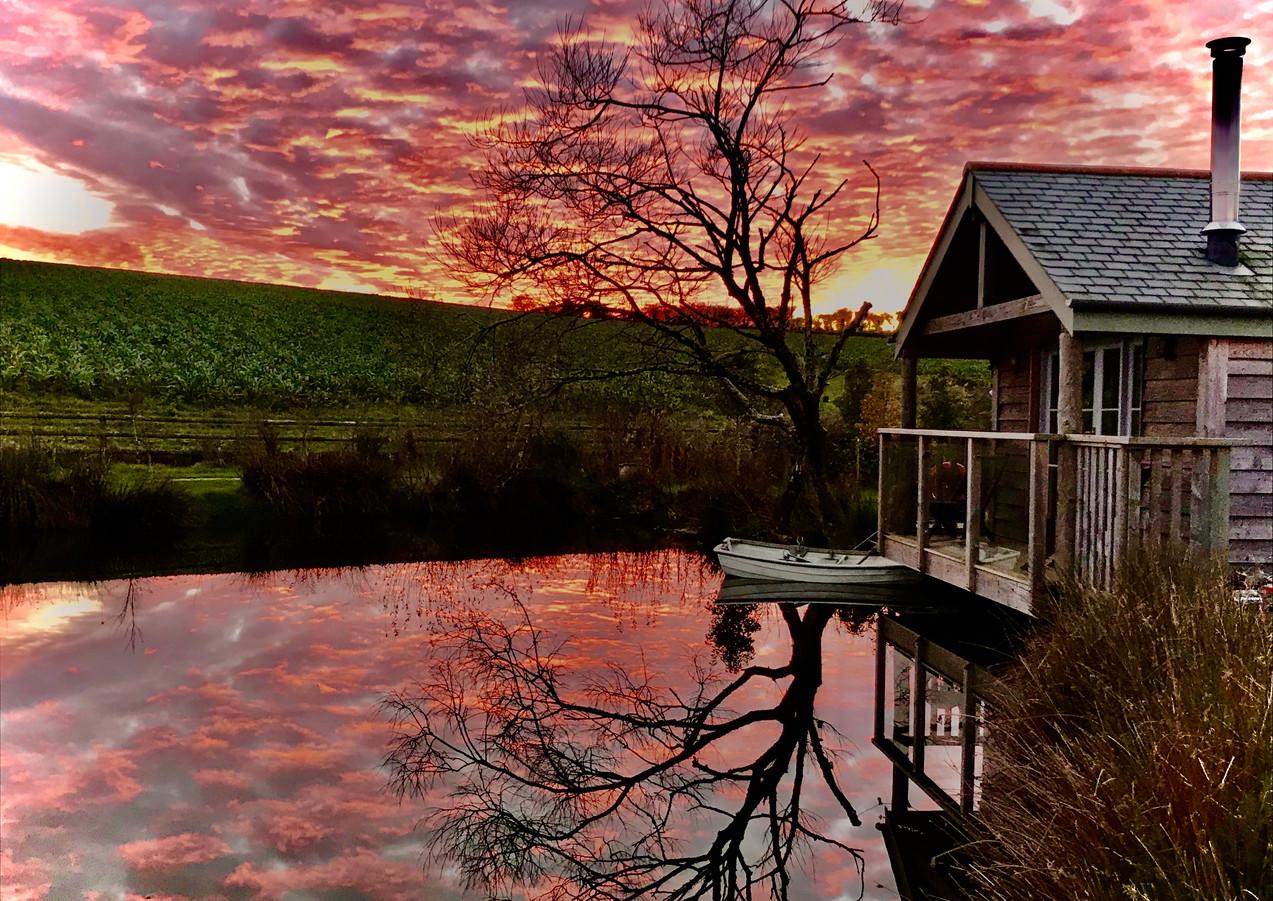 Sunset at Pengelly Retreat