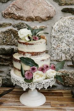Wedding cake at Tregoose by Indulgence Catering
