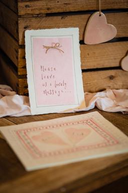 Intimate wedding details at The Lamb Inn at Sandford