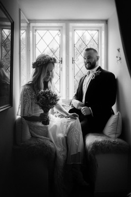 Special elopement wedding day moment