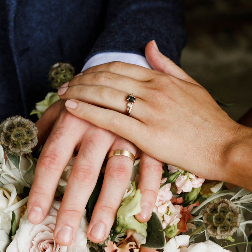 A moment of tenderness in a love filled intimate wedding day.