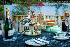 High tea on your elopement day by The Wedding Angel