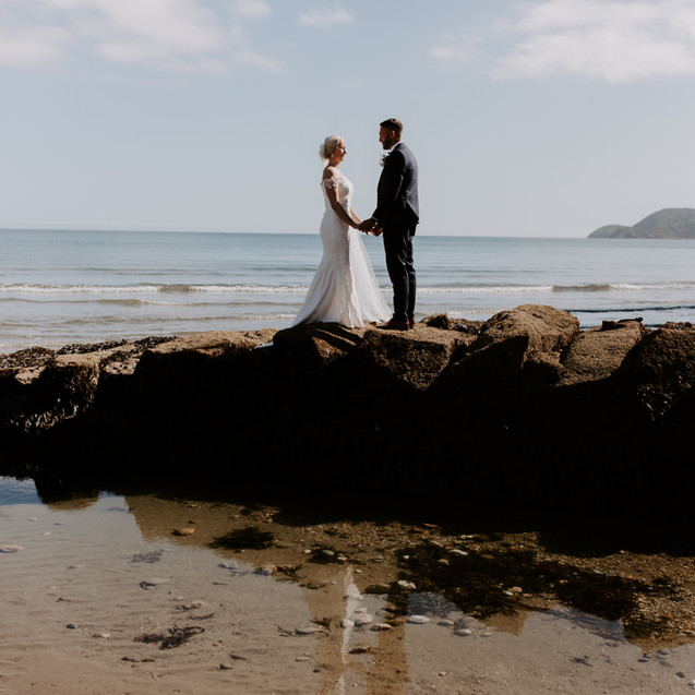 Ellie & Danny's intimate wedding day by the sea by Thomas Frost Photography