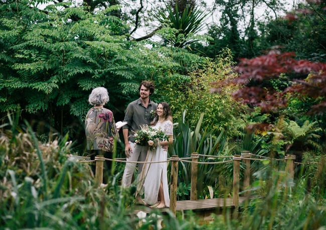 Celebrant led ceremony in the secret garden