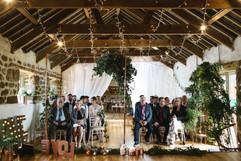 Intimate Wedding Ceremony at Chypraze Wedding Barn