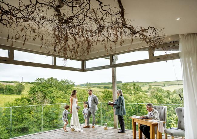 Tree Top Escape Elopement Wedding with children