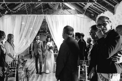Wedding ceremony at Chypraze Wedding Barn